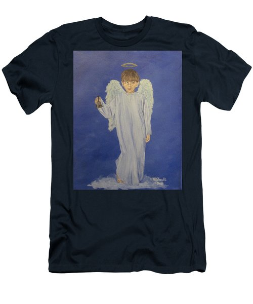 Men's T-Shirt (Slim Fit) featuring the painting Ring-a-ding by Wendy Shoults