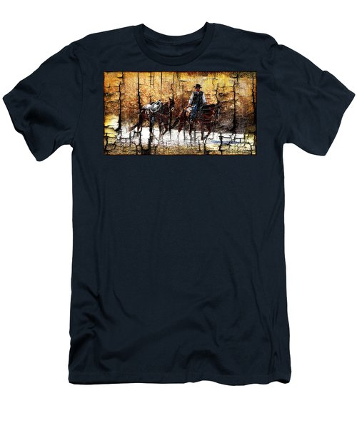 Rio Cowboy With Horses  Men's T-Shirt (Athletic Fit)