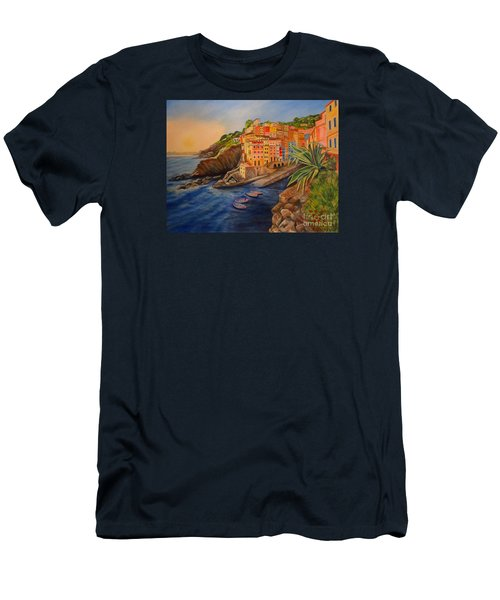 Riomaggiore Amore Men's T-Shirt (Slim Fit) by Julie Brugh Riffey