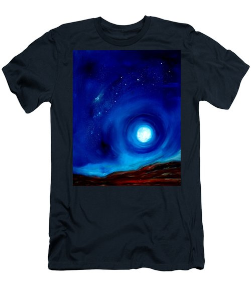 Rising Desert Moon Men's T-Shirt (Athletic Fit)