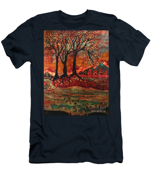 River Sunrise - Lothlorien Men's T-Shirt (Athletic Fit)