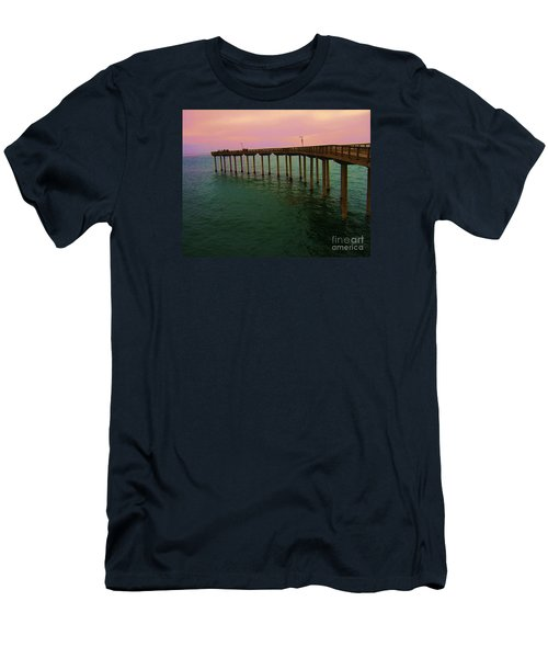 Men's T-Shirt (Slim Fit) featuring the photograph Road To Water by Jasna Gopic