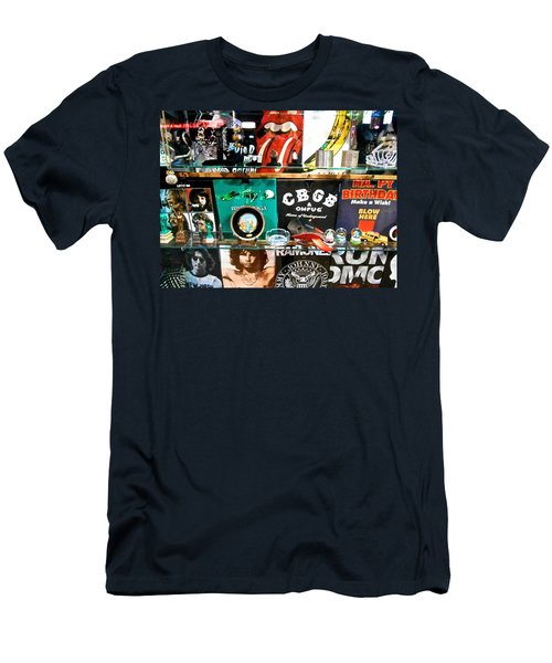 Rock And Roll On St. Marks   Nyc Men's T-Shirt (Athletic Fit)
