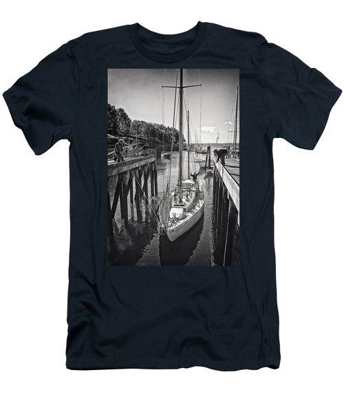 Rockport Harbor Men's T-Shirt (Slim Fit) by Priscilla Burgers