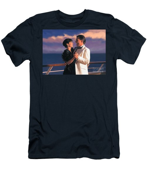 Men's T-Shirt (Slim Fit) featuring the painting Romantic Cruise by Tim Gilliland