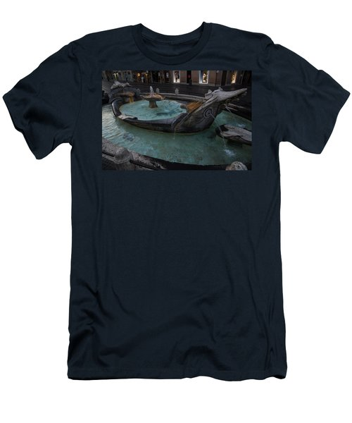Rome's Fabulous Fountains - Fontana Della Barcaccia At The Spanish Steps  Men's T-Shirt (Athletic Fit)