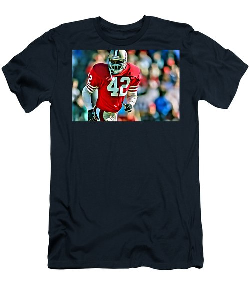 41427f22 Ronnie Lott Men's T-Shirt (Athletic Fit)