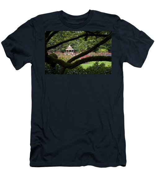 Men's T-Shirt (Slim Fit) featuring the photograph Rose Garden Window by Sonya Lang