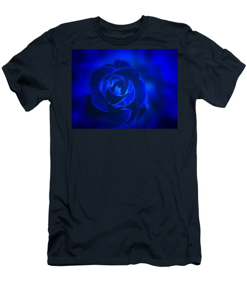 Rose In Blue Men's T-Shirt (Athletic Fit)