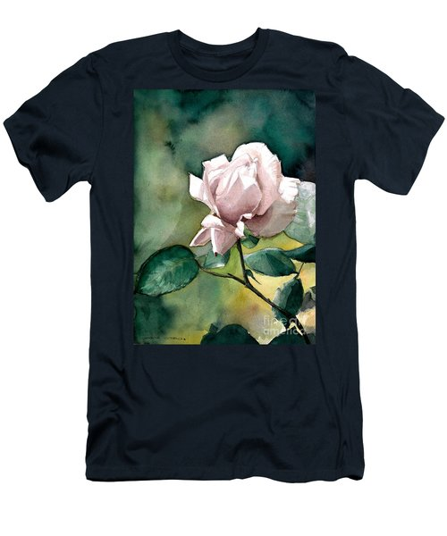 Men's T-Shirt (Slim Fit) featuring the painting Lilac Rose  by Greta Corens