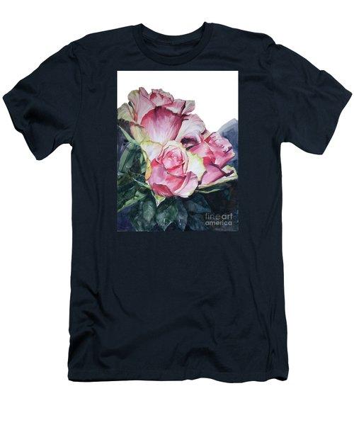 Pink Rose Michelangelo Men's T-Shirt (Slim Fit) by Greta Corens