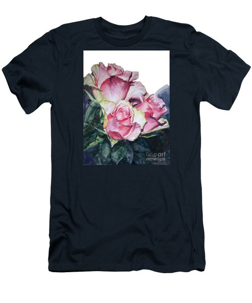 Pink Rose Michelangelo Men's T-Shirt (Athletic Fit)