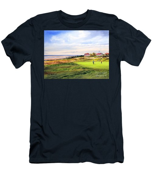Royal Liverpool Golf Course Hoylake Men's T-Shirt (Slim Fit) by Bill Holkham