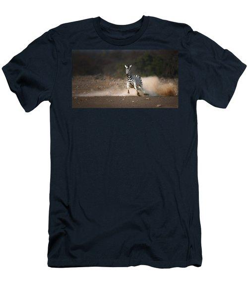 Running Zebra Men's T-Shirt (Athletic Fit)