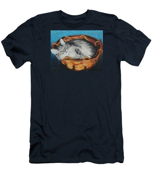 Sabrina In Her Basket Men's T-Shirt (Slim Fit) by Jeanne Fischer