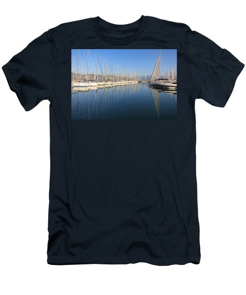 Sailboat Reflections Men's T-Shirt (Athletic Fit)