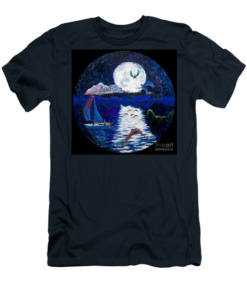 Sailing In The Moonlight Men's T-Shirt (Athletic Fit)