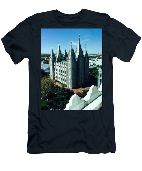 Salt Lake Temple The Church Of Jesus Christ Of Latter-day Saints The Mormons Men's T-Shirt (Slim Fit) by Richard W Linford