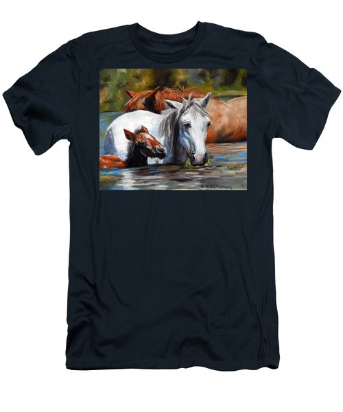 Salt River Foal Men's T-Shirt (Slim Fit) by Karen Kennedy Chatham