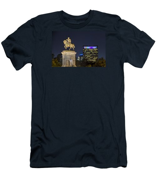 Men's T-Shirt (Slim Fit) featuring the photograph Sam Houston At Night by Tim Stanley