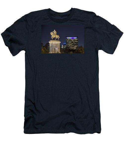 Sam Houston At Night Men's T-Shirt (Slim Fit) by Tim Stanley