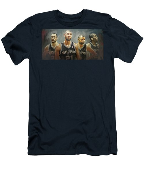 San Antonio Spurs Artwork Men's T-Shirt (Athletic Fit)