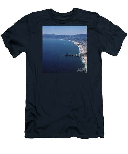 1960 Santa Monica Bay From The Air Men's T-Shirt (Athletic Fit)