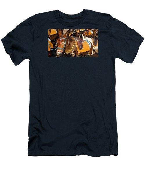 Santorini Donkeys Ready For Work Men's T-Shirt (Slim Fit) by Colette V Hera  Guggenheim