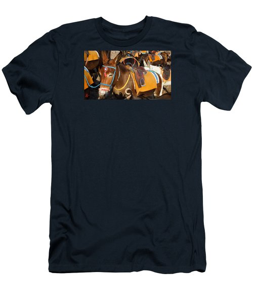 Santorini Donkeys Ready For Work Men's T-Shirt (Athletic Fit)