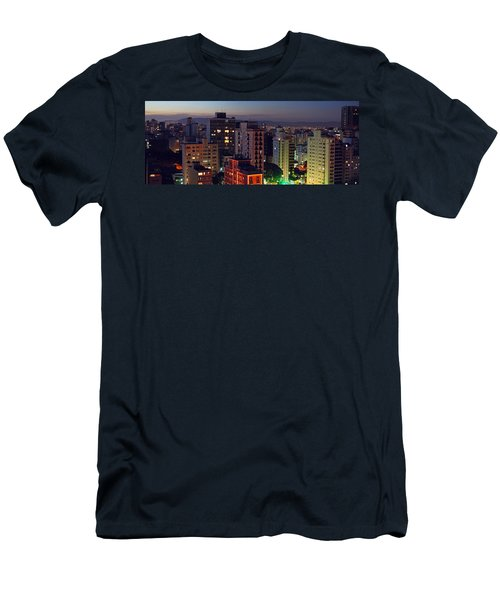 Sao Paulo Downtown At Dusk Men's T-Shirt (Athletic Fit)