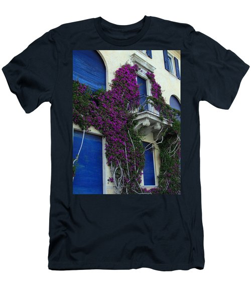 Men's T-Shirt (Slim Fit) featuring the photograph Scaling The Wall by Natalie Ortiz