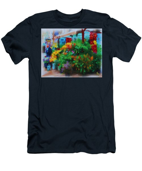 Scene From La Rambla Men's T-Shirt (Athletic Fit)
