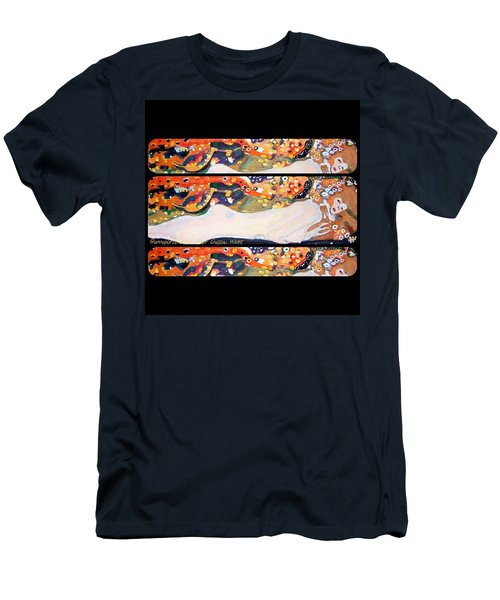 Sea Serpent IIi Tryptic After Gustav Klimt Men's T-Shirt (Slim Fit)