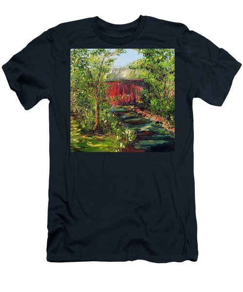 Men's T-Shirt (Slim Fit) featuring the painting Season Of Singing by Meaghan Troup