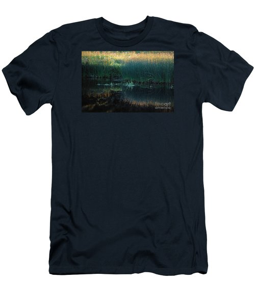 Sedges At Sunset Men's T-Shirt (Slim Fit) by Cynthia Lagoudakis