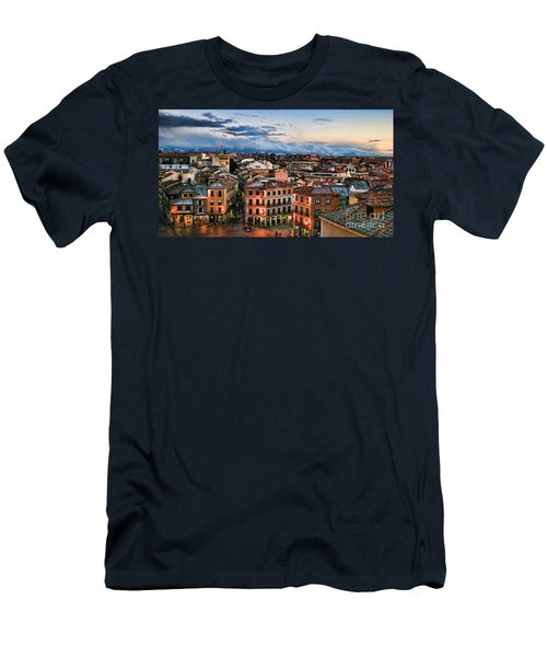 Segovia Nights In Spain By Diana Sainz Men's T-Shirt (Athletic Fit)