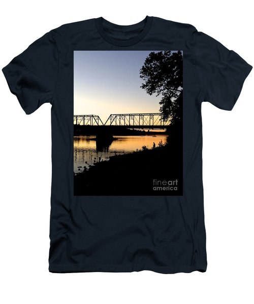 September Sunset On The River Men's T-Shirt (Athletic Fit)