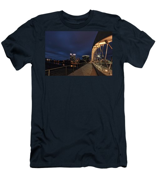 Seventh Avenue Bridge Fort Worth Men's T-Shirt (Athletic Fit)