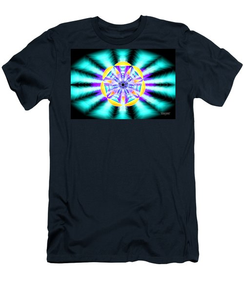 Men's T-Shirt (Slim Fit) featuring the drawing Seventh Ray Of Consciousness by Derek Gedney