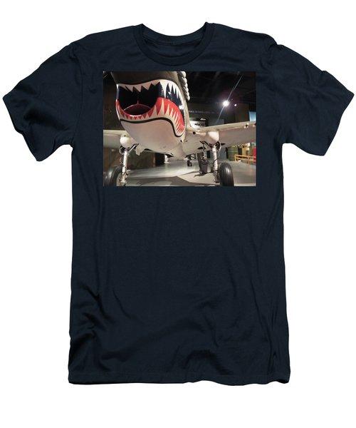 Men's T-Shirt (Slim Fit) featuring the photograph Shark Aircraft by Aaron Martens