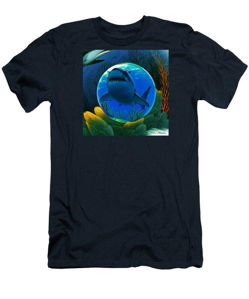 Shark World  Men's T-Shirt (Slim Fit) by Robin Moline