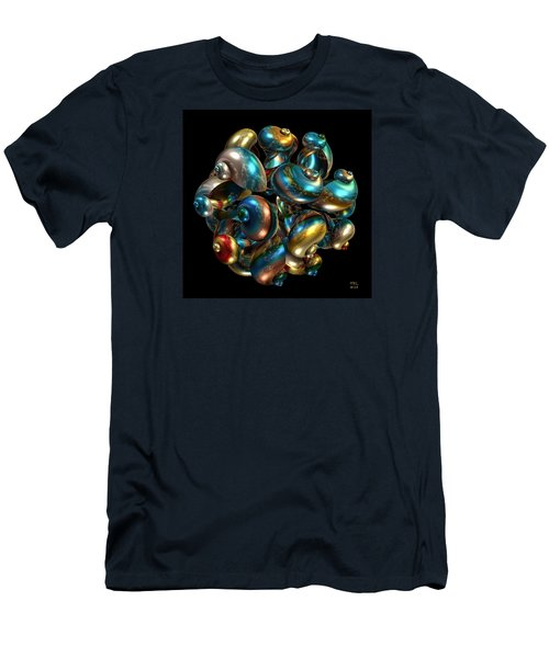 Men's T-Shirt (Slim Fit) featuring the digital art Shell Congregation by Manny Lorenzo