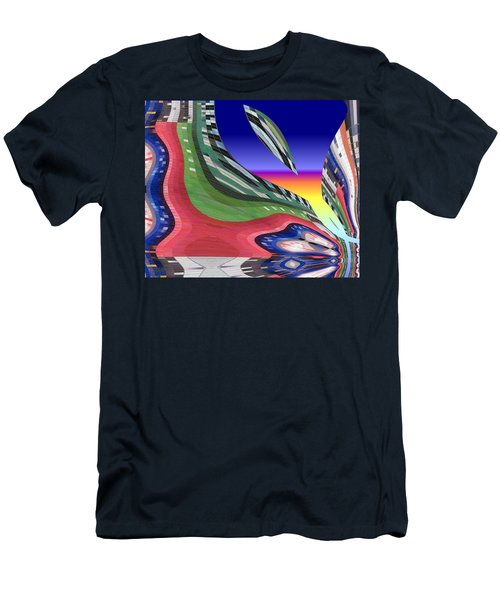 She's Leaving Home Abstract Men's T-Shirt (Athletic Fit)