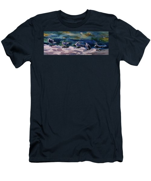 Shoreline Birds Iv Men's T-Shirt (Athletic Fit)