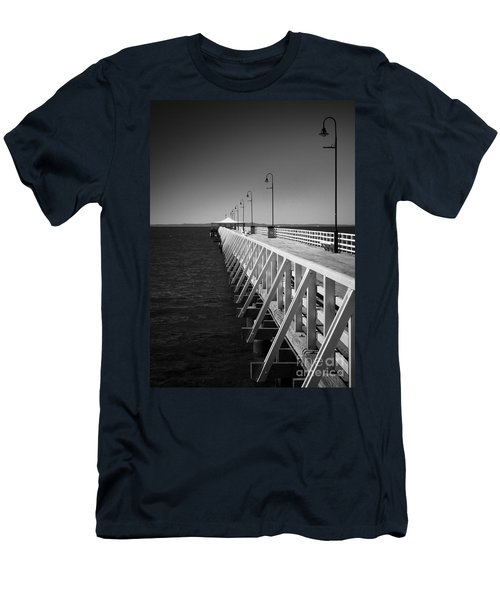 Shorncliffe Pier In Monochrome Men's T-Shirt (Athletic Fit)