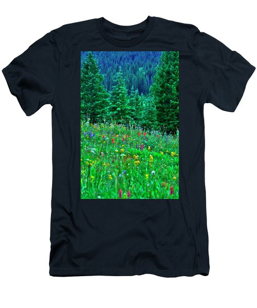 Shrine Pass Wildflowers Men's T-Shirt (Athletic Fit)