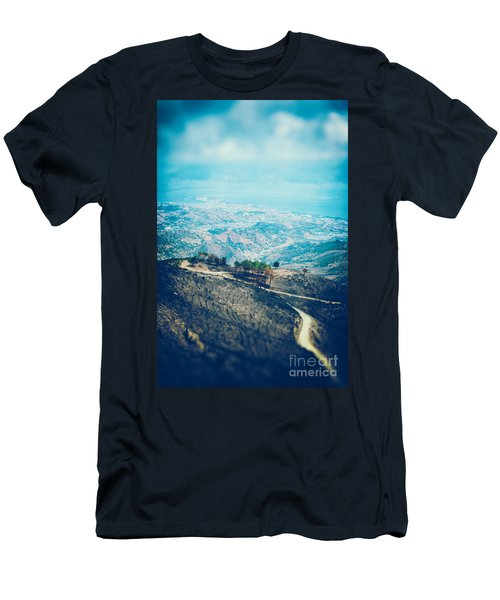 Men's T-Shirt (Slim Fit) featuring the photograph Sicilian Land After Fire by Silvia Ganora