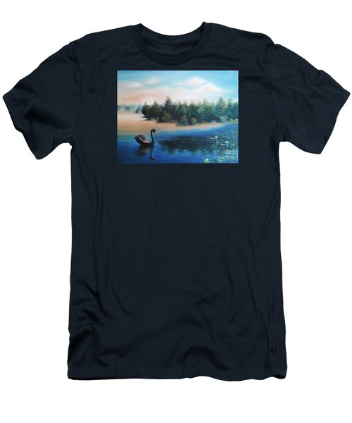 Men's T-Shirt (Slim Fit) featuring the painting Silence by Vesna Martinjak