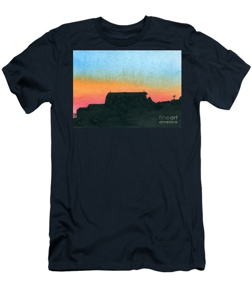 Silhouette Farmstead Men's T-Shirt (Slim Fit) by R Kyllo