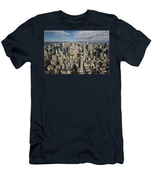Men's T-Shirt (Slim Fit) featuring the photograph Sim City by Mihai Andritoiu